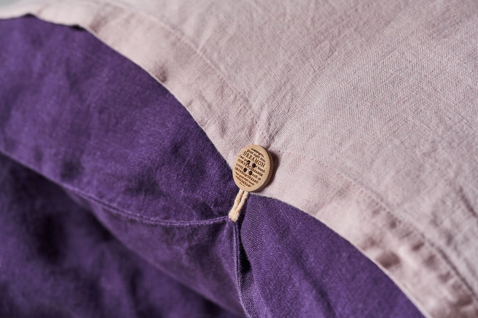 "Flax Bedding Set ""Lilac/Purple"""