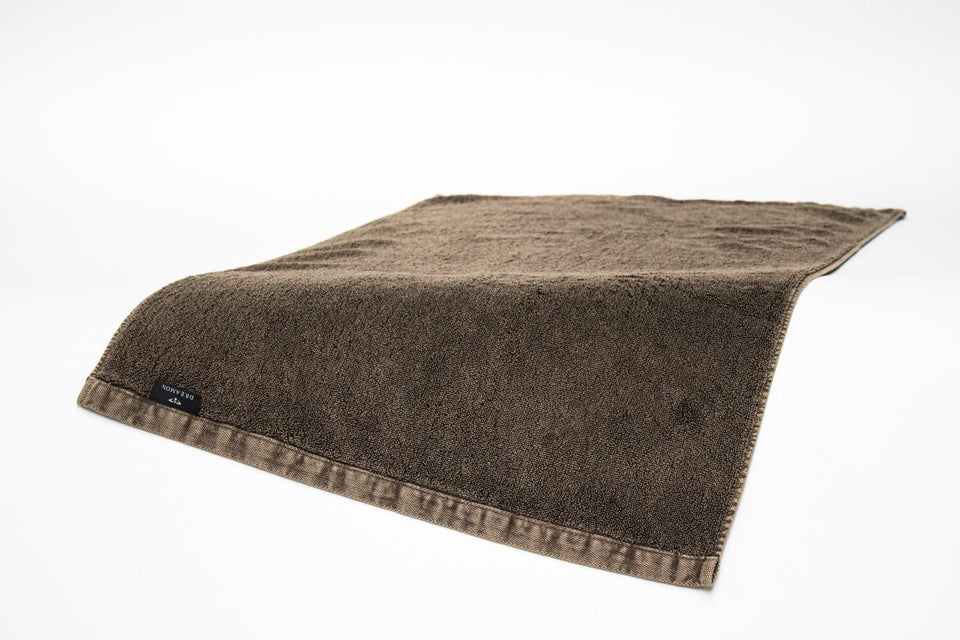 "Bath Towel and Bath Mat Gift Set ""Denim Brown"""