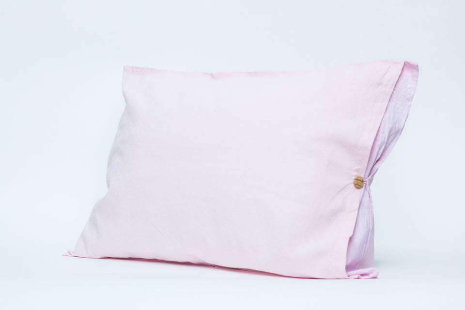 "Flax Bedding Set ""Pink Stripe"""
