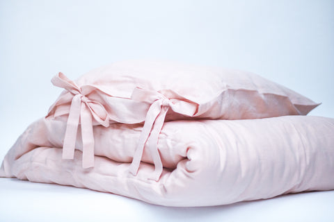 "Flax Bedding Set ""Peach"""