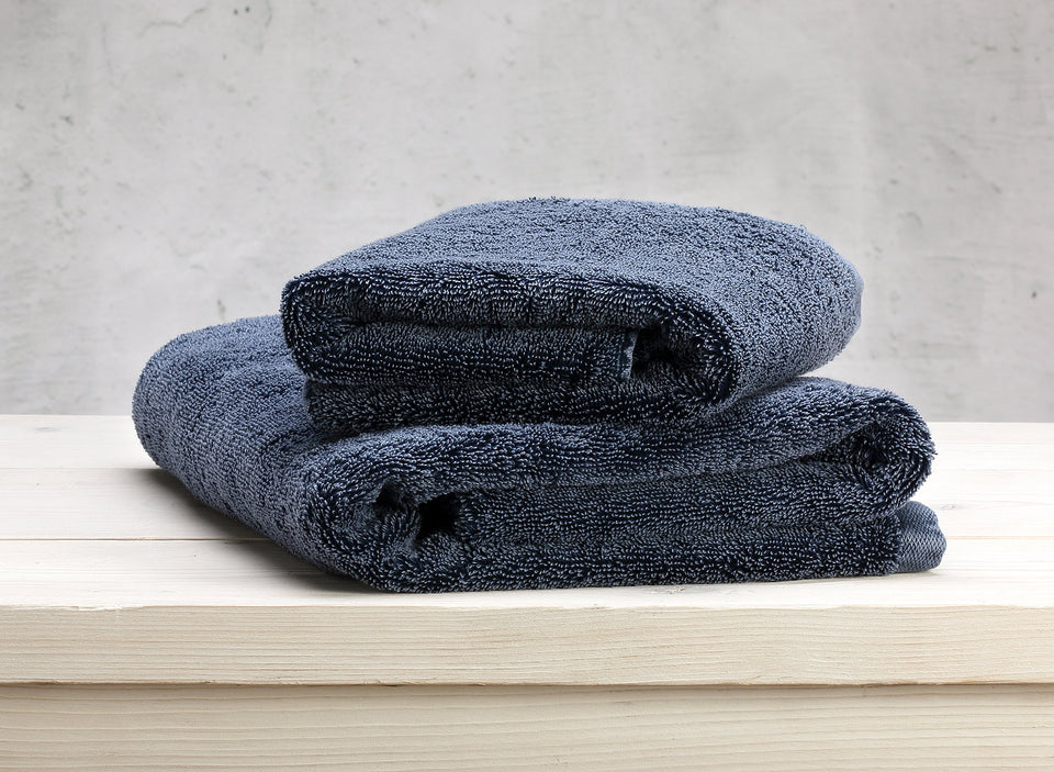 "Bath Towel ""Denim Blue"""