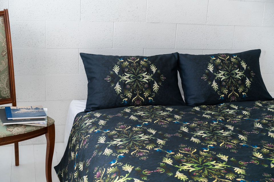 "Bedding Set ""Imperial Damask Green"""