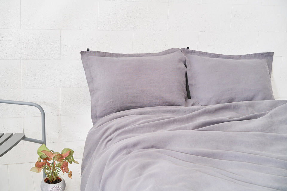 "Flax Bedding Set ""Grey"""