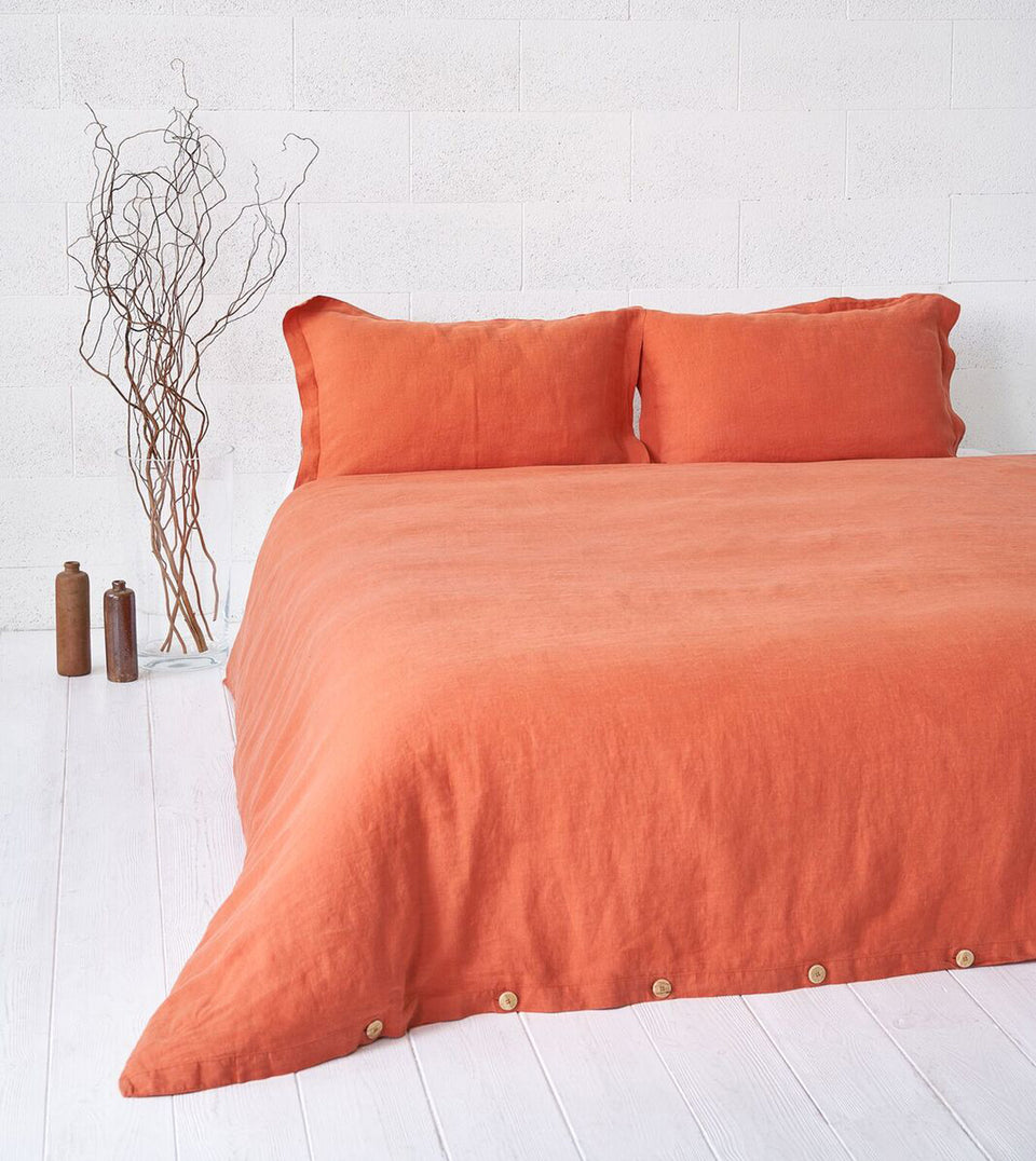 "Flax Bedding Set ""Red Curry"""