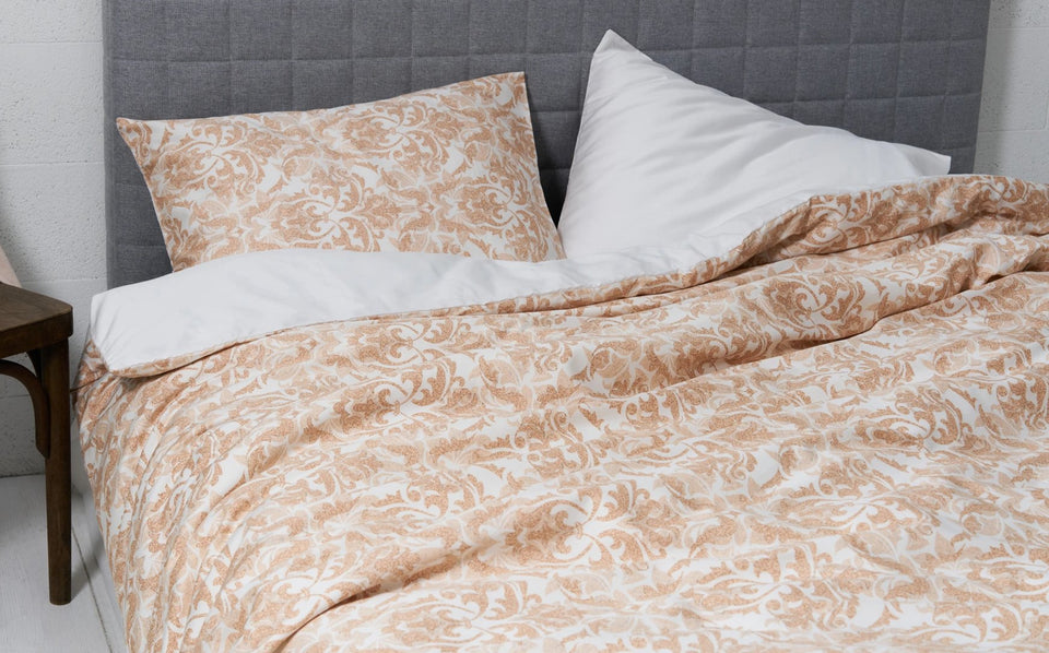 "Duplex Bedding Set ""Damask Light/ White"" + bedsheet"