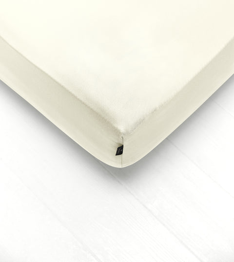 Bedsheet With Rubber - Vanilla Color