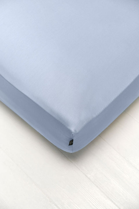 Bedsheet With Rubber - Sky Blue Color