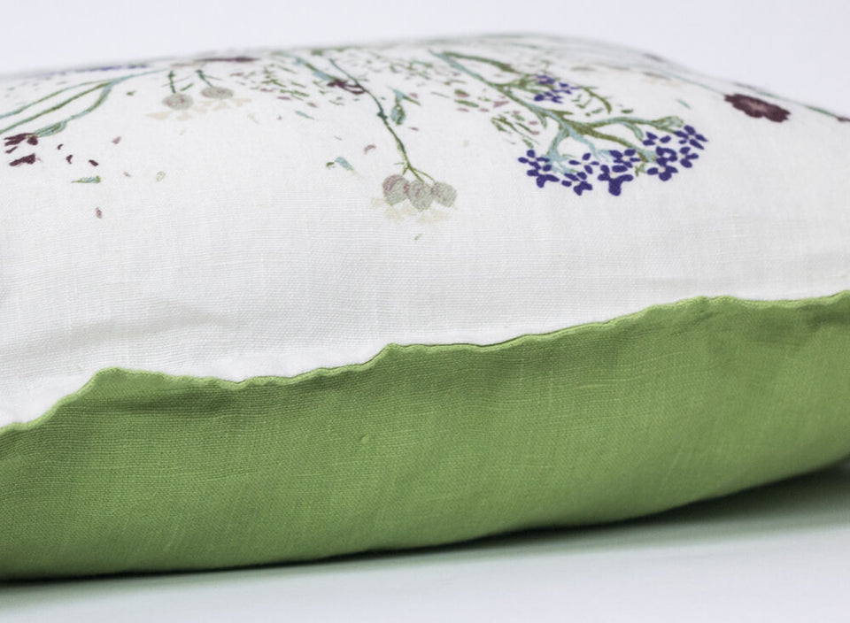 "Deco Pillow Suit ""Flower & Green"""
