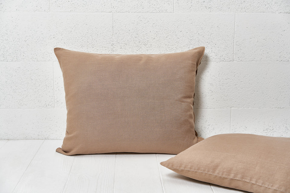 "Flax pillow cover ""Brown"""