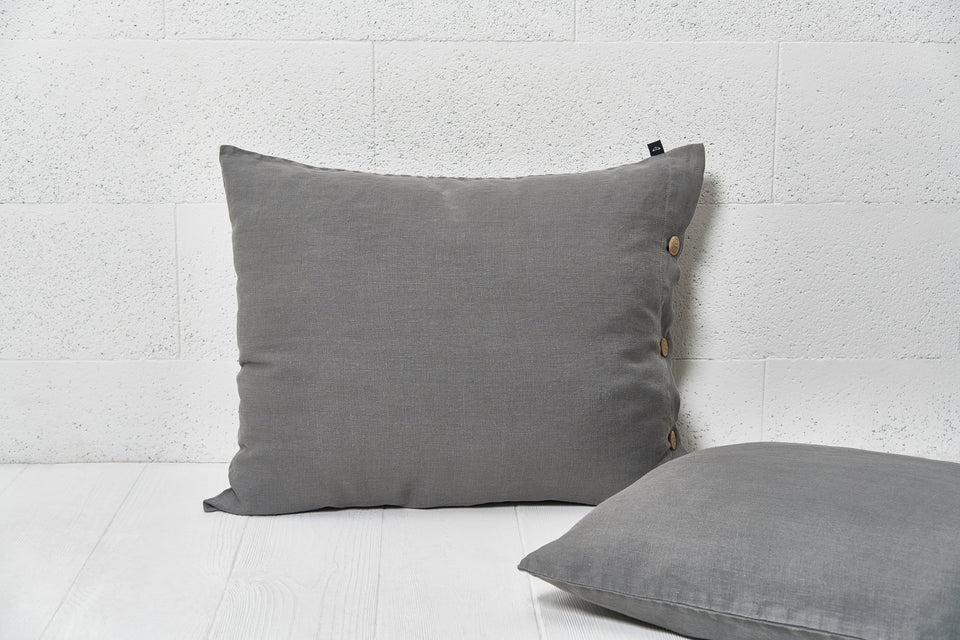 "Flax pillow cover ""Grey"""