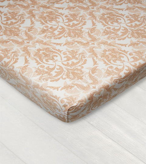 Bedsheet With Rubber - Damask Light