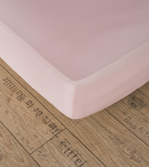 Bedsheet With Rubber - Pink Color