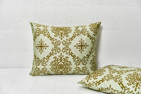 "Pillow cover ""Berries Of Harmony Pistachio Green"""