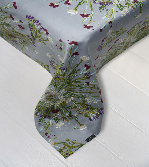 Bedsheet - Crown Of Flower Grey