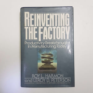 Reinventing The Factory: Productivity Breakthroughs In Manufacturing Today by R. L. Harmon & L. D. Peterson (Hardcover)