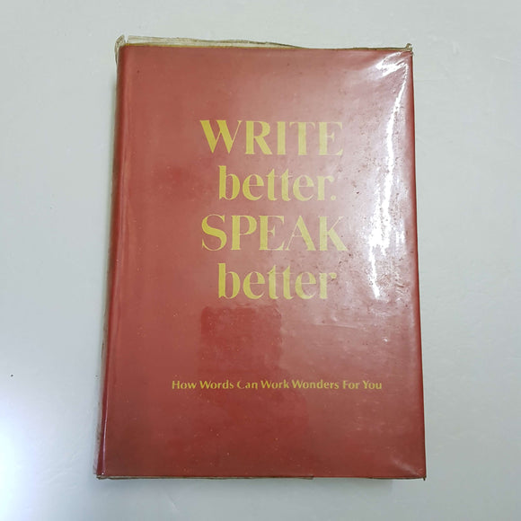Write Better Speak Better by Reader's Digest (Hardcover)