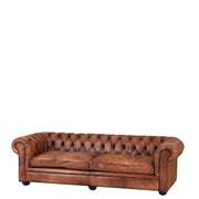 Eichholtz Club Sofa Gymnasium 240cm tobacco leather