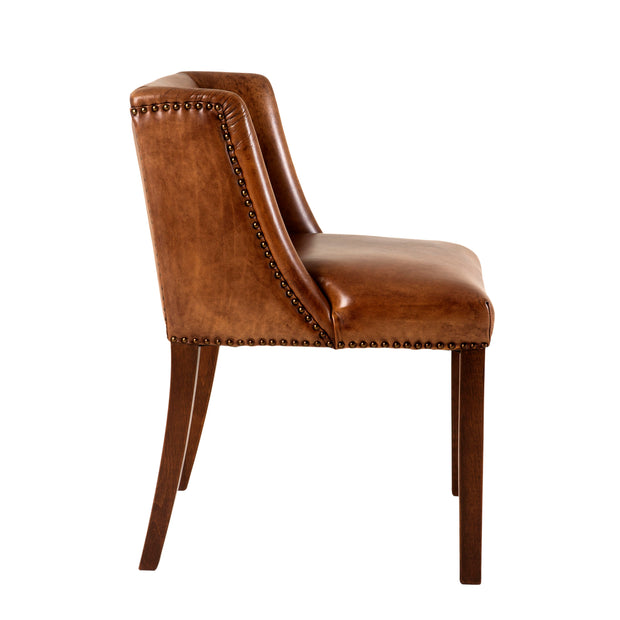 Eichholtz Dining Chair St. James tobacco leather