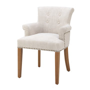 Eichholtz Dining Chair Key Largo with arm off-white linen
