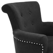 Eichholtz Dining Chair Key Largo with arm black cashmere