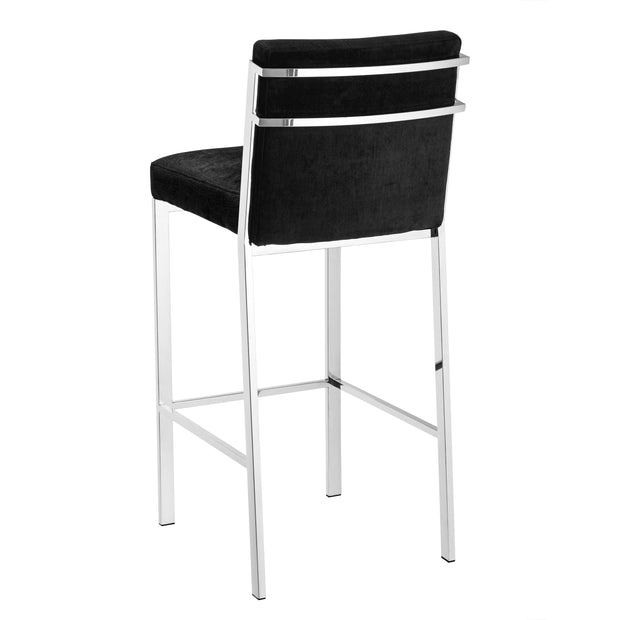 Eichholtz Bar Stool Scott Black Velvet