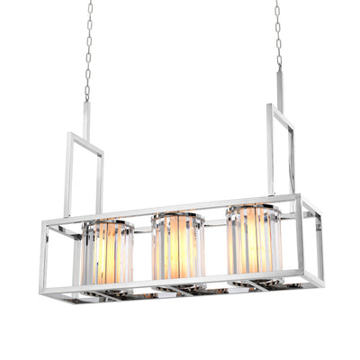 Eichholtz Chandelier Carducci Polished Stainless steel