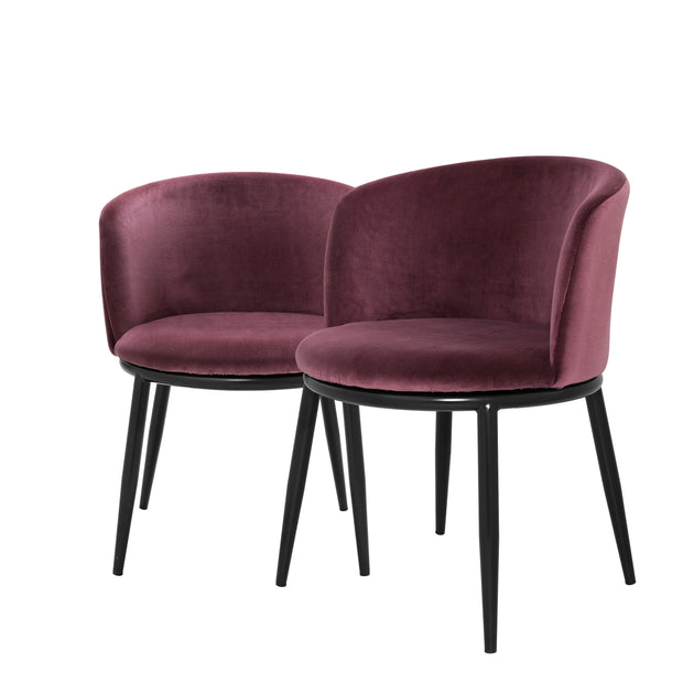 Eichholtz Dining Chair Filmore cameron purple set of 2