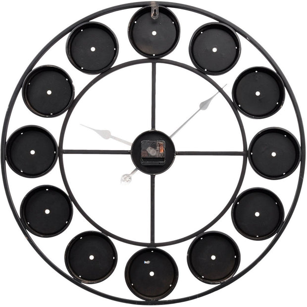 Libra Smarty Iron Clock Roman Numerals Coloured Domed Glass-Libra-Olivia's