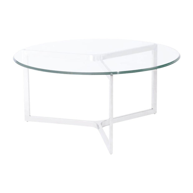 Libra Linton Stainless Steel And Glass Coffee Table-Libra-Olivia's