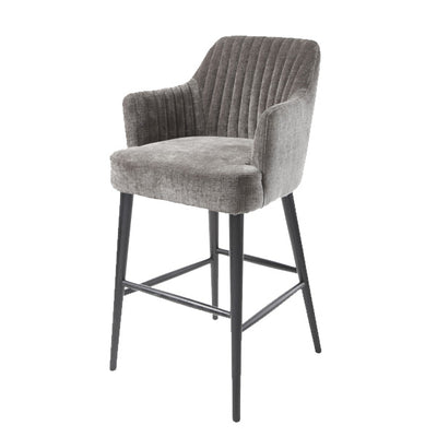 Blisco Bar Stool in Mouse-RVAstley-Olivia's