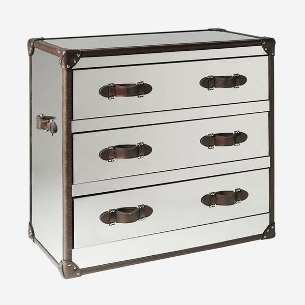 Andrew Martin Howard Steel Chest of Drawers-AndrewMartin-Olivia's