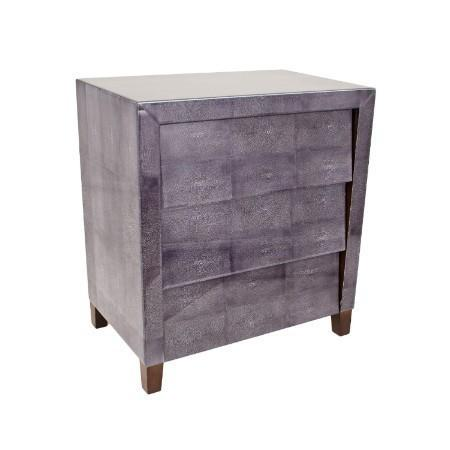 1950's Dark Grey Shagreen 3 drawer chest-RVAstley-Olivia's
