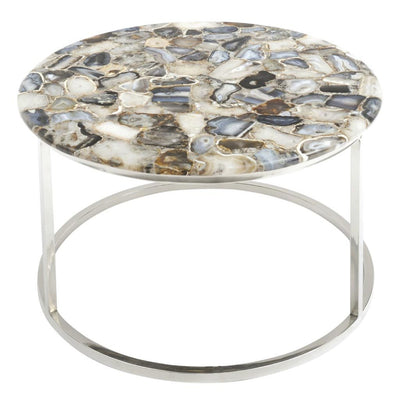 Libra Agate Round Coffee Table-Libra-Olivia's