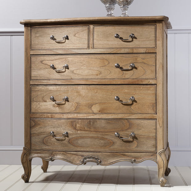 Gallery Chic 5 Drawer Chest in Weathered Wood-GalleryDirect-Olivia's