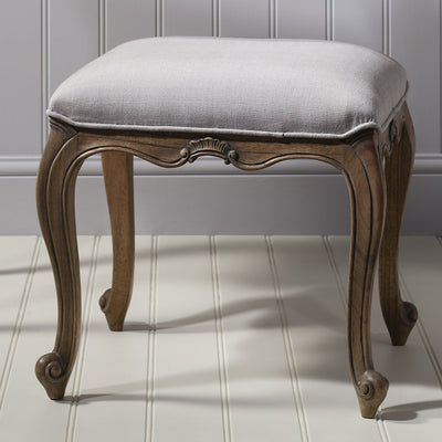 Gallery Chic Dressing Stool in Weathered Wood-GalleryDirect-Olivia's