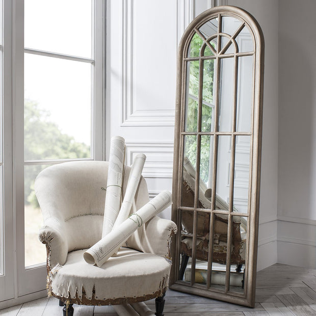 Gallery Curtis Arched Window Pane Mirror-GalleryDirect-Olivia's