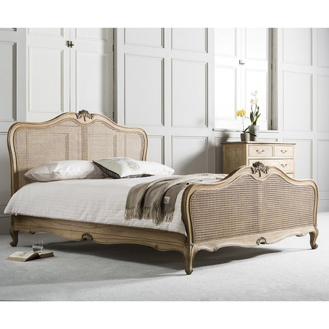Gallery Chic Super King Cane Bed in Weathered Wood