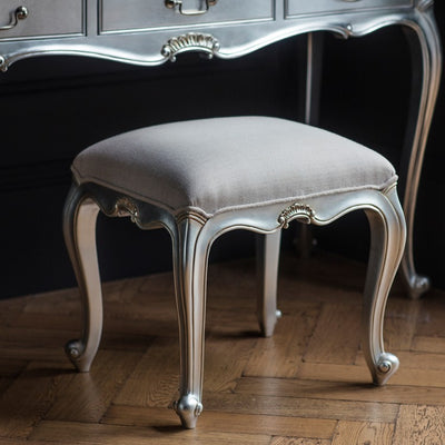 Gallery Chic Dressing Stool in Silver-GalleryDirect-Olivia's