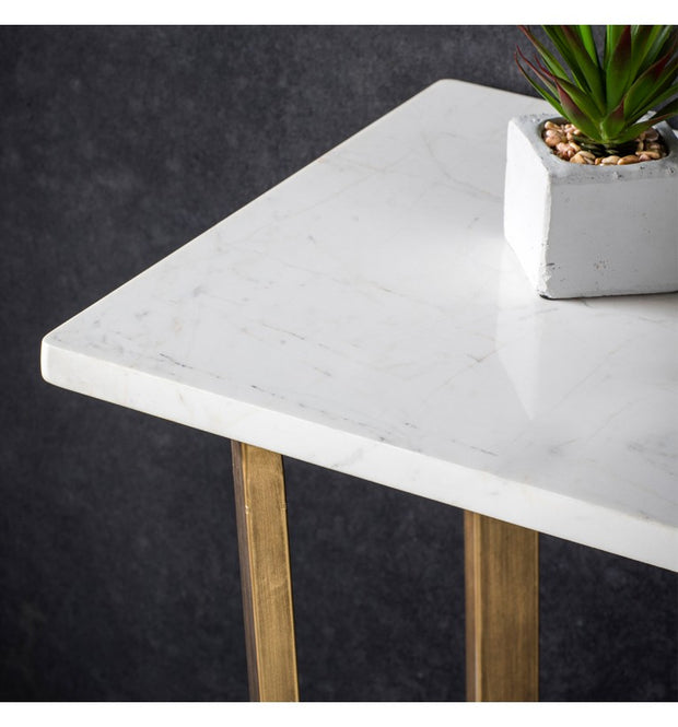 Hudson Living Cleo Marble Console Table in Gold-GalleryDirect-Olivia's