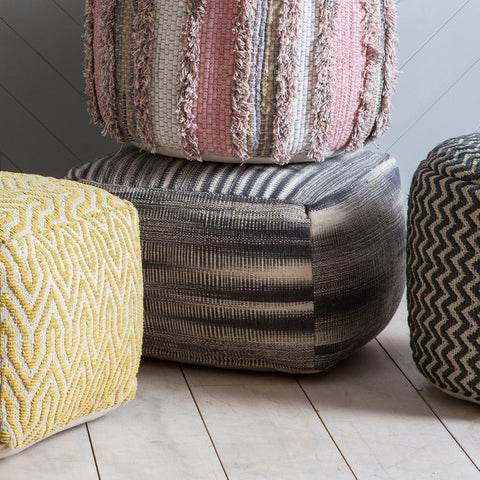 Gallery Tivoli Pouffe in Grey