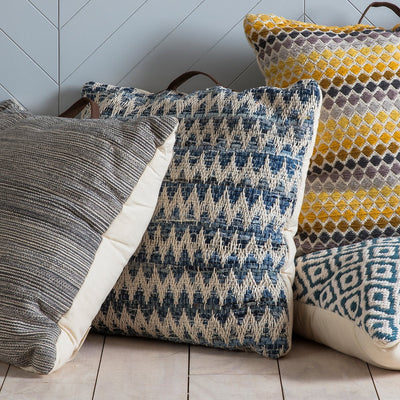 Gallery Varberg Floor Cushion With Handle in Blue-GalleryDirect-Olivia's