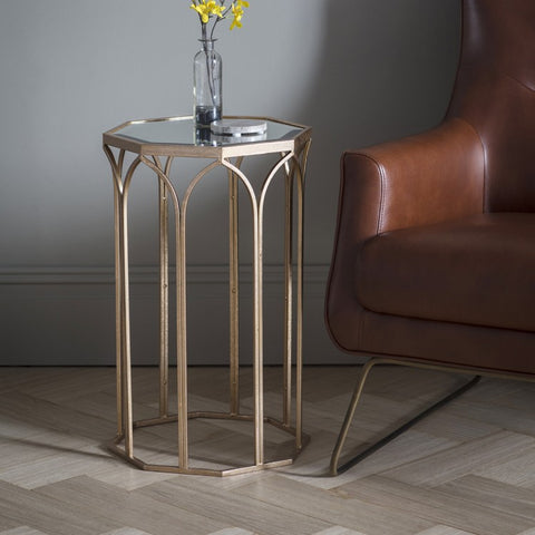 Gallery Canterbury Side Table in Antique Gold