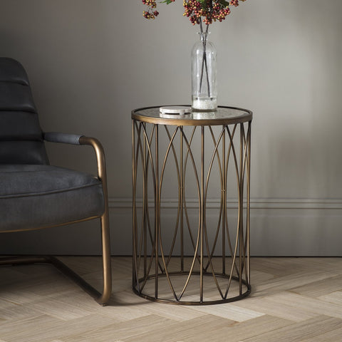 Gallery Highgate Side Table in Antique Gold