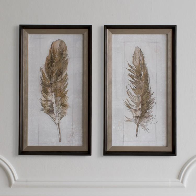 Gallery Direct Autumn Feather Set Of 2 | Outlet