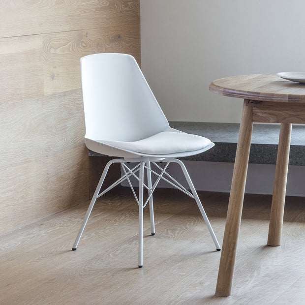 Hudson Living Set of 4 Finchley Dining Chair White-GalleryDirect-Olivia's
