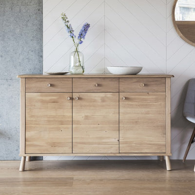 Hudson Living Wycombe 3 Door 3 Drawer Sideboard-GalleryDirect-Olivia's