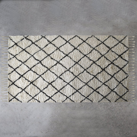 Gallery Colorado Berber Diamond Rug in Cream
