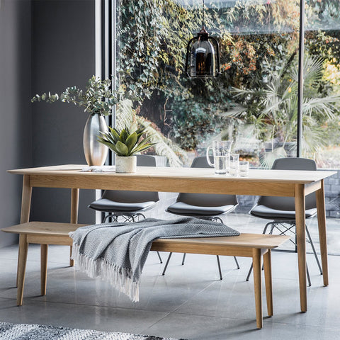 Gallery Milano Extending Oak Scandi Dining Table