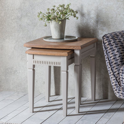 Gallery Bronte Nest of 2 Tables in Taupe-GalleryDirect-Olivia's