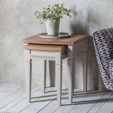Gallery Bronte Nest of 2 Tables in Taupe